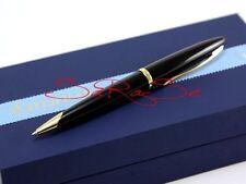 Waterman carene bolígrafo Ballpoint pen charol negro Golden Line