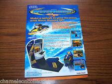 WAVE RUNNER By SEGA 2001 ORIGINAL VIDEO ARCADE GAME MACHINE FLYER BROCHURE
