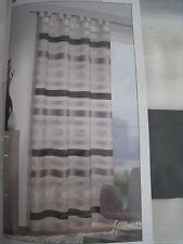 Dekoschal Fertiggardine Schlaufenschal 245 cm hoch 140 cm schwarz grau silber