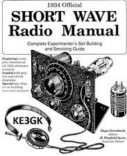 1934 Official Short Wave Radio Manual * Service * Repair * CDROM * PDF