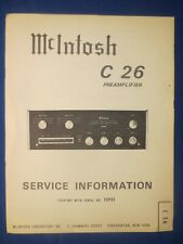 McIntosh MR 77 Service Manual Factory Original The Real Thing  From Serial 10Y01