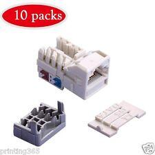 10x Cat 6 RJ45  Netzwerk Stecker Netzwerkstecker Werkzeuglos KeyStone Modul Jack