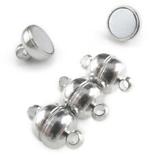 20 Magnetic Clasp Converters - Shiny Drum Style - Shiny Silver Color - Jewelry