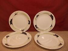 "Corning Corelle Black Orchid Set of 4 Bread Plates 6 3/4"""