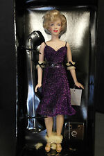 Franklin Mint Marilyn Monroe Vinyl Doll Entertaining The Troops Purple USO 16""