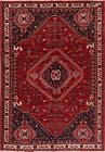 Abadeh Tribal Nomad Oriental Wool Area Rug Geometric Hand-Knotted 7x10 Medallion