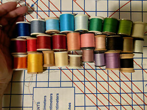 Sewing Machine Thread-Lot 7-27 spools-great colors-stash builder! Many types!