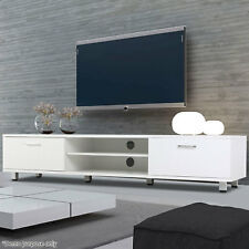 Modern High Gloss TV Unit Cabinet Stand Media Video Lowboard Sideboard White New