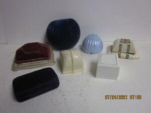 Vintage Jewelry Display Boxes Presentation Velvet Lot of 6