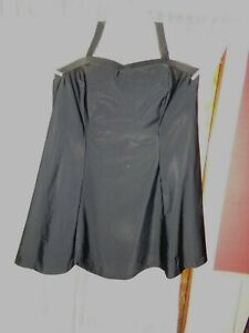 NWOT Women's Junonia Black One Piece Swimsuit Swimdress - size 4X