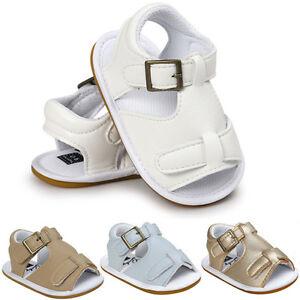 Toddler Newborn Baby Boys Sandals Soft Sole Crib Shoes Anti-slip Prewalker 0-18M
