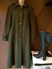 Himalaya Loden olive green rare long wool Winter coat, size large