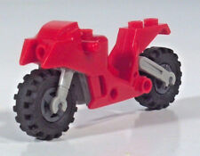 "Minifigure Lego Man Motorcycle Bike 2.75"" Scale Model Red Building Blocks"