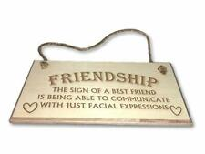 Friendhship - Engraved wooden wall plaque/sign