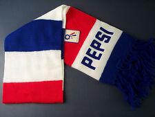 "Original Vintage Pepsi Knit Long Scarf with Fringes Orlon Acrylic 52"" x 7.5"" NEW"