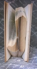Cowboy Boot Hand Folded Book Art Unique Booklover gift interesting home decor