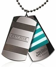 JEAN PAUL GAULTIER LE MALE DOG TAG SOLID PERFUME MILITARY PENDANT CHAIN NECKLACE