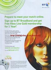 "BT Broadband ""prepare To Meet Your Match Online2 Xbox 2006 Magazine Advert #4715"
