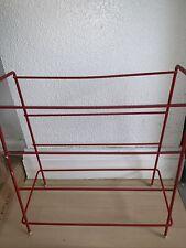 Vintage Red Wire Metal Shoe Rack Retro Used Unwanted Storage Simple Display