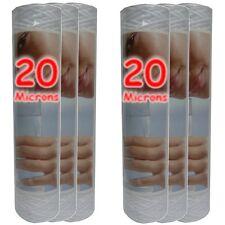 """Cartouche filtre à eau 10"""" 20 µm bobinée sédiments-particules-boue (lot de 6)"""