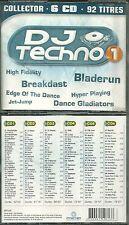 RARE / DJ TECHNO N° 1 : LES MEILLEURS DJ' S ( COFFRET 6 CD / 92 TITRES - DANCE