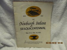 Souvenir Program Newburgh (IN) Sesquicentennial 1803-1953 Historical Info & Ads