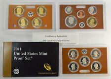 2011-S Proof Set Dollar Half State Quarters Nickel Cent US Mint 14 Coins w/Box