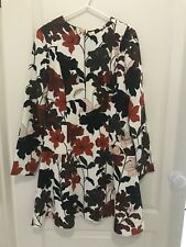 Cue Floral Long Sleeve Dress Dress Size 12 Good Used Condition