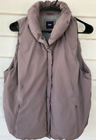 Gap Large Solid Lavender Mauve Vest Zip Front Sleeveless