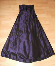 Debut Goth Steampunk PURPLE Taffeta long evening Formal Party Dress 6 UK