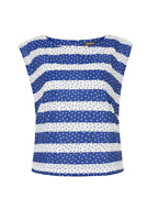 Emily and Fin Edna Top Navy Spots and Stripe Sample Sale