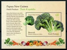 More details for papua new guinea png fruits & vegetables stamps 2019 mnh broccoli 1v m/s