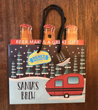 Holiday Heavy Weights Beer Gift Bag (6-Pack) Santa'S Brew! Lot of 2! Nwt