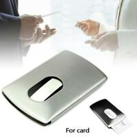 Stainless Steel Business ID Credit Card Wallet Holder Metal Pocket Case Box UP