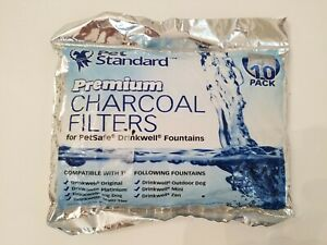 Premium Charcoal Filters for PetSafe Drinkwell Fountains, Pack of 10 New Package