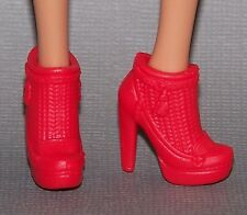 Barbie Doll Shoes Fashionista Life in the Dreamhouse Red Ankle Boots Heels