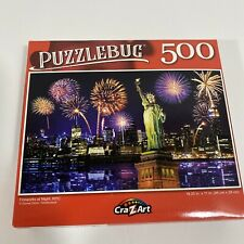 New Puzzlebug 500 Piece Jigsaw Puzzle ~ Fireworks at Night, NYC