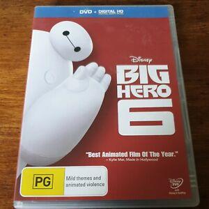Big Hero 6 DVD R4 Like New! FREE POST