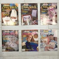 Lot of 6 Simply Cross Stitch Magazines 1991 1992 First 6 Issues
