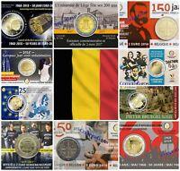 Coincards 2 Euros Conmemorativos BELGICA 2014, 2015, 2016, 2017, 2018, 2019