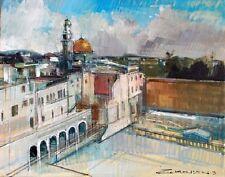"""Temple Mount"" by ALEX ZWARENSTEIN! Hand Signed Original Oil Painting! Rare Find"