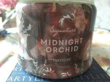 Partylite 3 wick candle Midnight Orchid new in box