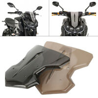 Front Windscreen Windshield with bracket for Yamaha MT-09 FZ-09 2017-2018 Brown