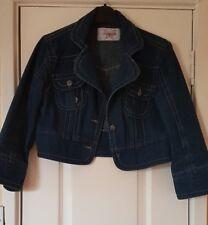 Sugarbebe Cropped Denim jacket with 3/4 length sleeves