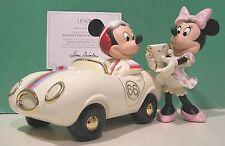 LENOX Disney MICKEY MINNIE'S WINNER'S CIRCLE RACE CAR sculpture NEW in BOX w/COA