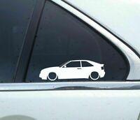 2x Lowered car outline stickers - for VW Corrado VR6 g60 16v Retro Classic L675