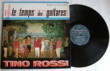 TINO ROSSI  (LP 33T) LE TEMPS DES GUITARES - POCHETTE DEDICACEE