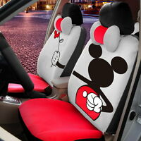 ** 18 Piece Red Mickey Mouse Valentine Car Seat Covers **