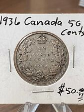1936 CANADA 50 CENTS!! NICE COIN!
