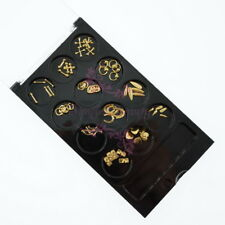 60pcs Nail Art Alloy Charms Gold Tone Bar Circle Teardrop Shape Japanese Style